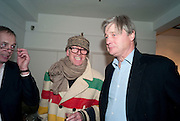 RICHARD STRANGE; THE MARQUIS OF WORCESTER, The Way We Wore.- Photographs of parties in the 70's by Nick Ashley. Sladmore Contemporary. Bruton Place. London. 13 January 2010. *** Local Caption *** -DO NOT ARCHIVE-© Copyright Photograph by Dafydd Jones. 248 Clapham Rd. London SW9 0PZ. Tel 0207 820 0771. www.dafjones.com.<br /> RICHARD STRANGE; THE MARQUIS OF WORCESTER, The Way We Wore.- Photographs of parties in the 70's by Nick Ashley. Sladmore Contemporary. Bruton Place. London. 13 January 2010.
