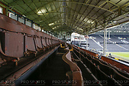 General stadium view inside Craven Cottage showing the traditional wooden seating in the Johnny Haynes stand before The FA Cup 3rd round match between Fulham and Oldham Athletic at Craven Cottage, London, England on 6 January 2019.