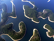 HANGZHOU, March 15, 2016 (Xinhua) -- <br /> <br /> aerial view of the Qiandao Lake, or Thousand-Island Lake, in Chun'an County of Hangzhou, east China's Zhejiang Province. With 1,078 islands scattered across the lake, Qiandao Lake is a famous spot for sightseeing in China.<br /> ©Exclusivepix Media