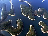 Amazing Aerial views of Thousand-Island Lake