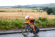 Time Trial Women 32,3 km, Anna Van Der Breggen (Netherlands) during the Road Cycling European Championships Glasgow 2018, in Glasgow City Centre and metropolitan areas Great Britain, Day 7, on August 8, 2018 - photo Luca Bettini / BettiniPhoto / ProSportsImages / DPPI<br /> - restriction - Netherlands out, Belgium out, Spain out, Italy out