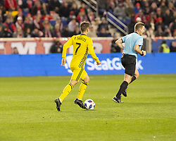 STYLEPREPENDPedro Santos (7) of Columbus Crew SC controls ball during 2nd leg MLS Cup Eastern Conference semifinal game against Red Bulls at Red Bul Arena Red Bulls won 3 - 0 agregate 3 - 1 and progessed to final (Credit Image: © Lev Radin/Pacific Press via ZUMA Wire)