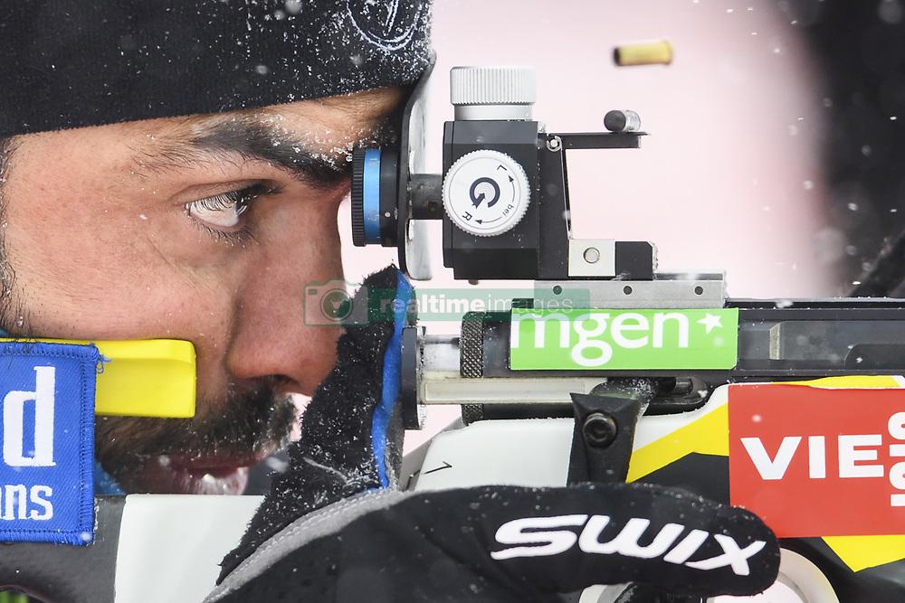 March 8, 2019 - Ostersund, Sweden - SIMON FOURCADE of France at the men's training session during the IBU World Championships Biathlon in Ostersund. (Credit Image: © Petter Arvidson/Bildbyran via ZUMA Press)