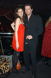 Actor JAMES PUREFOY and JESSICA ADAMS at a party to celebrate the first issue of British Harper's Bazaar held at Cirque, 10-14 Cranbourne Street, London WC2 on 16th February 2006.<br /><br />NON EXCLUSIVE - WORLD RIGHTS