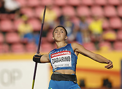 July 10, 2018 - Tampere, Suomi Finland - 180710 Friidrott, Junior-VM, Dag 1: Sara Zabarino ITA competes in Javelin Throw during the IAAF World U20 Championships day 1 at the Ratina stadion 10. July 2018 in Tampere, Finland. (Newspix24/Kalle Parkkinen) (Credit Image: © Kalle Parkkinen/Bildbyran via ZUMA Press)