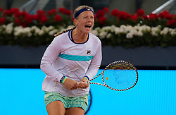 May 9, 2019 - Madrid, MADRID, SPAIN - Kiki Bertens of the Netherlands in action during her quarter-final match at the 2019 Mutua Madrid Open WTA Premier Mandatory tennis tournament (Credit Image: © AFP7 via ZUMA Wire)