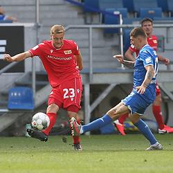 Felix Kroos (1.FC Union Berlin) und Steven Zuber (TSG 1899 Hoffenheim)<br /> <br /> Sport: Fussball: Bundesliga: Saison 19/20: TSG 1899 Hoffenheim-1.FC Union Berlin, 20.06.2020.<br /> <br /> Foto: RALF POLLER/AVANTI/POOL/PIX-Sportfotos<br /> <br /> Nur für journalistische Zwecke! Only for editorial use! <br /> Gemäß den Vorgaben der DFL Deutsche Fußball Liga ist es untersagt, in dem Stadion und/oder vom Spiel angefertigte Fotoaufnahmen in Form von Sequenzbildern und/oder videoähnlichen Fotostrecken zu verwerten bzw. verwerten zu lassen. DFL regulations prohibit any use of photographs as image sequences and/or quasi-video.
