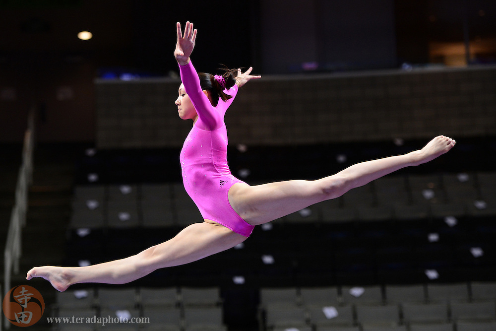 June 29, 2012; San Jose, CA, USA; Kyla Ross warms up on the balance beam during the 2012 USA Gymnastics Olympic Team Trials at HP Pavilion.