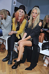 Left to right, ALISON MOSSHART and POPPY DELEVIGNE at the Sass & Bide fashion show as part of London Fashion Week Spring Summer 2013 held at the Lindley Hall, Royal Horticultural Halls, London SW1 on 14t September 2012.