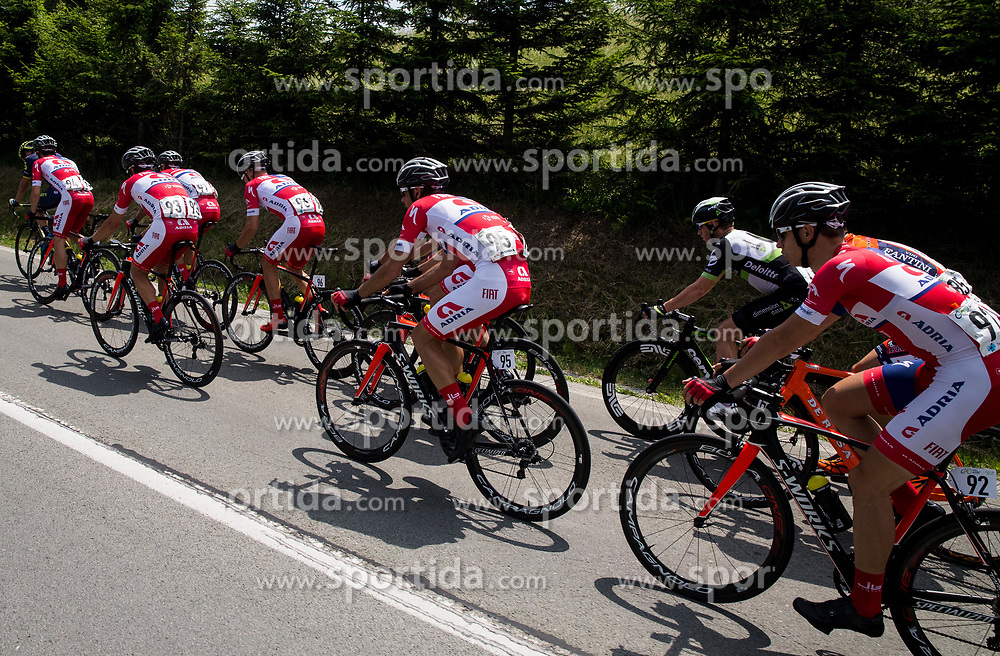 Ziga Groselj (SLO) of KK Adria Mobil, Jure Golcer (SLO) of KK Adria Mobil, Dusan Rajovic (SRB) of KK Adria Mobil, Gregor Gazvoda (SLO) of KK Adria Mobil, Gasper Katrasnik (SLO) of KK Adria Mobil during Stage 1 of 24th Tour of Slovenia 2017 / Tour de Slovenie from Koper to Kocevje (159,4 km) cycling race on June 15, 2017 in Slovenia. Photo by Vid Ponikvar / Sportida