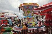 Karuzela, ulica Portowa, Hel.<br /> Merry-go-round on Hel