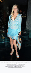 Singer MISS ANOUSHKA DE GEORGIOU at a party in London on 1st July 2004.<br /> PWS 2