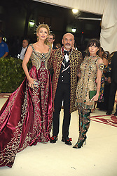 Blake Lively and Christian LeBoutin  attend the Costume Institute Benefit at the Metropolitin Museum of Art at the opening of Heavenly Bodies: Fashion and the Catholic Imagination on May 7, 2018 in New York, New York, USA.