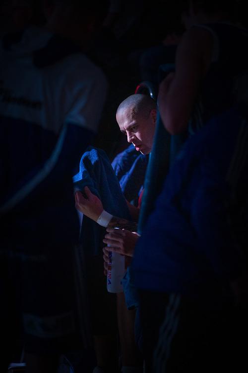 BASKETLIGAN 2019-11-18<br /> Jämtlands RT Guinn under en timeout i måndagens match i basketligan mellan Jämtland Basket och Djurgården<br /> <br /> Foto: Per Danielsson/Projekt.P
