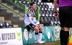 David Fitzpatrick of Port Vale sits down as play is stopped during the game - Mandatory by-line: Nizaam Jones/JMP - 16/01/2021 - FOOTBALL - innocent New Lawn Stadium - Nailsworth, England - Forest Green Rovers v Port Vale - Sky Bet League Two