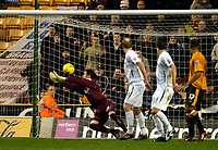 Photo: Ed Godden.<br />Wolverhampton Wanderers v Norwich City. Coca Cola Championship. 23/12/2006. Wolves' Karl Henry (out of picture) scores to make it 1-1.