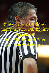 10 November 2014:  Referee Don Olson during an exhibition men's basketball game between Lewis University Flyers and the Illinois State Redbirds at Redbird Arena, Normal IL