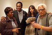 KODWO ESHUN; ANJALIKA SAGAR, Private view for the Turner prize exhibition. Tate Britain. London. 4 October 2010. -DO NOT ARCHIVE-© Copyright Photograph by Dafydd Jones. 248 Clapham Rd. London SW9 0PZ. Tel 0207 820 0771. www.dafjones.com.