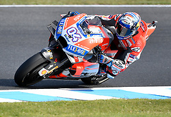 October 26, 2018 - Melbourne, Victoria, Australia - Italian rider Andrea Dovizioso (#4) of Ducati Team in action during day 2 of the 2018 Australian MotoGP held at Phillip Island, Australia. (Credit Image: © Theo Karanikos/ZUMA Wire)