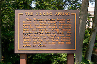 The Sinking Spring Sign at Abraham Lincoln Birthplace National Historic Site, Hodgenville, Kentucky