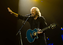 © Licensed to London News Pictures. 03/10/2013. London, UK.   Barry Gibb performing live at The O2 Arena. Barry Alan Crompton Gibb CBE is a British musician, singer, songwriter, and producer who rose to worldwide fame as a founder member of the Bee Gees, alongside his younger twin brothers Robin and Maurice who died in 20012 and 2003 respectively.  Photo credit : Richard Isaac/LNP
