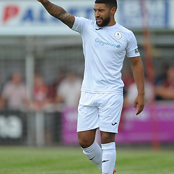 TELFORD COPYRIGHT MIKE SHERIDAN Ellis Deeney during the National League North fixture between Kettering Town and AFC Telford United at Latimer Park on Saturday, August 3, 2019<br /> <br /> Picture credit: Mike Sheridan<br /> <br /> MS201920-005