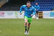 Forest Green Rovers Sam Wedgbury(8) warming up during the FA Trophy 2nd round match between Chester FC and Forest Green Rovers at the Deva Stadium, Chester, United Kingdom on 14 January 2017. Photo by Shane Healey.