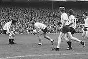 Dublin Midfield player Brian Mullins, gathering the ball near his own goalmouth during the All Ireland Senior Gaelic Football Final Dublin v Kerry in Croke Park on the 26th September 1976. Dublin 3-08 Kerry 0-10.