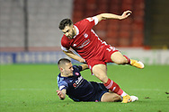 Aberdeen forward Connor McLennan (18) during the Scottish Premiership match between Aberdeen and Hamilton Academical FC at Pittodrie Stadium, Aberdeen, Scotland on 20 October 2020.