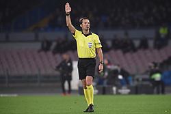 March 7, 2019 - Naples, Naples, Italy - Aleksei Kulbakov referee during the UEFA Europa League match between SSC Napoli and RB Salzburg at Stadio San Paolo Naples Italy on 7 March 2019. (Credit Image: © Franco Romano/NurPhoto via ZUMA Press)