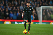 Kyle Walker of Manchester City in action. Premier league match, Stoke City v Manchester City at the Bet365 Stadium in Stoke on Trent, Staffs on Monday 12th March 2018.<br /> pic by Andrew Orchard, Andrew Orchard sports photography.