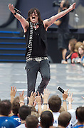 INDIANAPOLIS, IN - SEPTEMBER 06:  Music group Hinder performs during the 2007 NFL Opening Kick-Off - Show on September 6, 2007 in Indianapolis, Indiana.  (Photo by Michael Hickey/WireImage) Photo by Michael Hickey