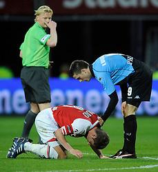 03-04-2010 VOETBAL: AZ - FC UTRECHT: ALKMAAR<br /> FC utrecht verliest met 2-0 van AZ / Ricky van Wolfswinkel en Stijn Schaars<br /> ©2009-WWW.FOTOHOOGENDOORN.NL