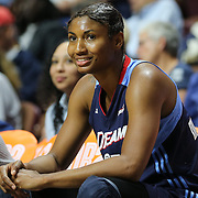 UNCASVILLE, CONNECTICUT- JUNE 3:   Angel McCoughtry #35 of the Atlanta Dream during the Atlanta Dream Vs Connecticut Sun, WNBA regular season game at Mohegan Sun Arena on June 3, 2016 in Uncasville, Connecticut. (Photo by Tim Clayton/Corbis via Getty Images)