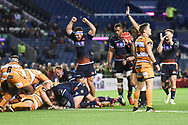 Ben Toolis scores opening try during the Guinness Pro 14 2018_19 match between Edinburgh Rugby and Toyota Cheetahs at BT Murrayfield Stadium, Edinburgh, Scotland on 5 October 2018.
