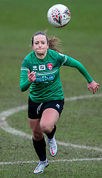 BIRKENHEAD, ENGLAND - Sunday, March 14, 2021: Coventry United's Hayley Crackle during the FA Women's Championship game between Liverpool FC Women and Coventry United Ladies FC at Prenton Park. Liverpool won 5-0. (Pic by David Rawcliffe/Propaganda)