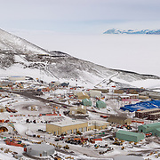 McMurdo Station, the largest station in Antarctica, a sprawling place, functional and utilitarian, a work in progress since its beginnings before the 1957-1958 IGY.
