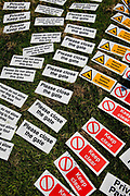 Signs for sale, Hutton Le Hole, bootfair, North Yorkshire moors
