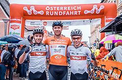 07.07.2019, Wels, AUT, Ö-Tour, Österreich Radrundfahrt, 1. Etappe, von Grieskirchen nach Freistadt (138,8 km), im Bild v.l.: die Büder Florian Gamper (Tirol KTM Cycling Team, AUT), Patrick Gamper (Tirol KTM Cycling Team, AUT), Mario Gamper (Tirol KTM Cycling Team, AUT) // during 1st stage from Grieskirchen to Freistadt (138,8 km) of the 2019 Tour of Austria. Wels, Austria on 2019/07/07. EXPA Pictures © 2019, PhotoCredit: EXPA/ JFK