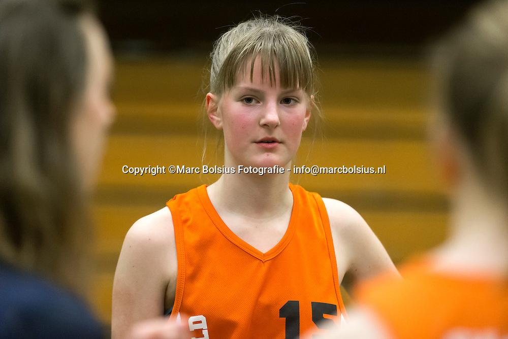 Nederland,  Rosmalen, basketbalster van Springfield  Thura van der Schans