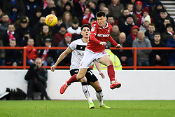 January 19, 2019 - Nottingham, England, United Kingdom - Nottingham Forest forward Joe Lolley (23) heads the ball during the Sky Bet Championship match between Nottingham Forest and Bristol City at the City Ground, Nottingham on Saturday 19th January 2019. (Credit Image: © Mark Fletcher/NurPhoto via ZUMA Press)