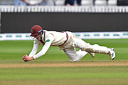 Wicket - Tom Banton of Somerset catches Alastair Cook of Essex off the bowling of Jack Leach of Somerset during the Specsavers County Champ Div 1 match between Somerset County Cricket Club and Essex County Cricket Club at the Cooper Associates County Ground, Taunton, United Kingdom on 26 September 2019.