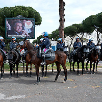 Police on horseback for public order management in Rome