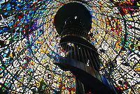 """Symphonic Sculpture"" stained glass sculpted by Gabriel Loire, Hakone Open-Air Museum, Hakone, Japan"