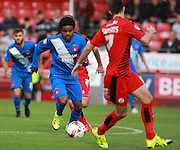 Leyton Orient midfielder Bradley Pritchard surges forward during the Sky Bet League 2 match between Crawley Town and Leyton Orient at the Checkatrade.com Stadium, Crawley, England on 10 October 2015. Photo by Bennett Dean.