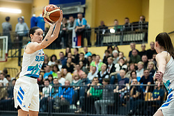 Nika BARIČ of Slovenia during basketball match qualifications for European Championship, round 1, between national teams Slovenia and Greece in Arena Celje - Center, 14. November, Ljubljana, Slovenia. Photo by Grega Valancic / Sportida