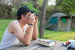 George Cooke Looking at Animals Across the Zambezi