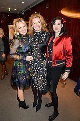 Left to right, GINA LEVETT, ERIN MORRIS and JASMINE GUINNESS at a ladies lunch in aid of the charity Child Bereavement UK held at The Bulgari Hotel, 171 Knightsbridge, London on 25th February 2016.