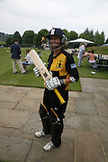 LASHING PLAYER: CLARE CONNOR, Guy Leymarie and Tara Getty host The De Beers Cricket Match. The Lashings Team versus the Old English team. Wormsley. ONE TIME USE ONLY - DO NOT ARCHIVE  © Copyright Photograph by Dafydd Jones 66 Stockwell Park Rd. London SW9 0DA Tel 020 7733 0108 www.dafjones.com