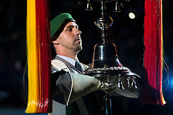 The 2019 Royal Edinburgh Military Tattoo launches its 2019 show Kaleidoscope. Staged on the Edinburgh Castle Esplanade between 2-24 August, the show marks its 69th year.<br /> <br /> Pictured: Heeremusikkorps Kassel